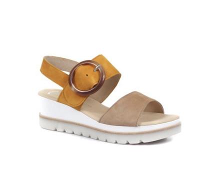 Gabor Yeo Caramel and Orange Sandal
